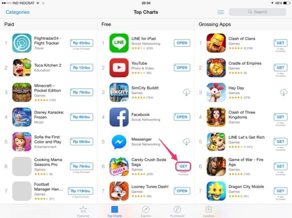 cara download app store iphone gratis
