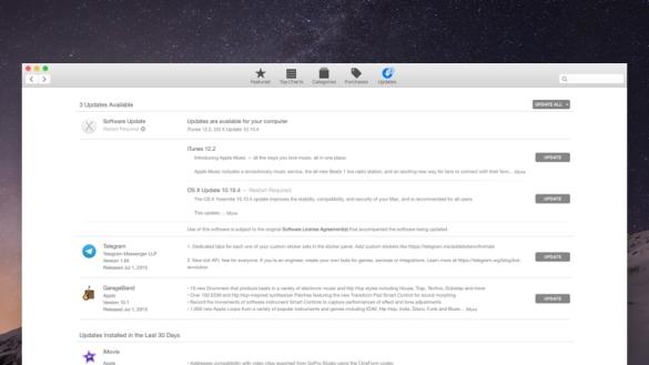 Cara Update OS X 10.10.4 Yosemite